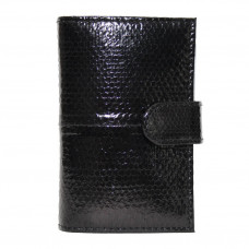 Business card holder made from skin of the snake (SNCH 18-1 Black)