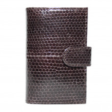Business card holder made of snake skin (Brown SNCH 18-1)