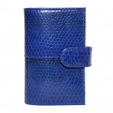 Business card holder made from skin of the snake (SNCH 18-1 Dark blue)