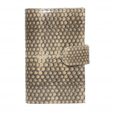 Business card holder made from skin of the snake (SNCH 18-1 Beige)