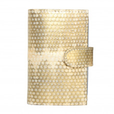 Business card holder made from skin of the snake (SNCH 18-1 Gold)