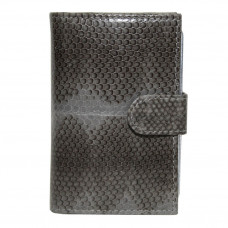 Business card holder made from skin of the snake (SNCH 18-1 Grey)