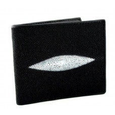 Men's wallet made of Stingray leather (N-ST 18, Black)