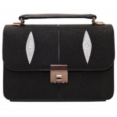 Briefcase Stingray leather STPB 128 Black (on order of 10-12 days)