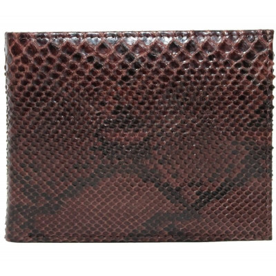 The wallet is made of Python skin (PT60Brown)