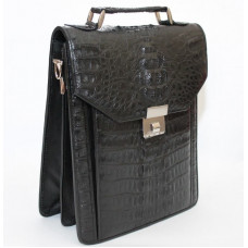 Bag made of crocodile skin (U-MZCM15-D Black)