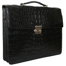 Portfolio men's crocodile skin U-DCM 48 Black