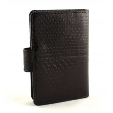 Business card holder made from skin of snakes (N-111Black)