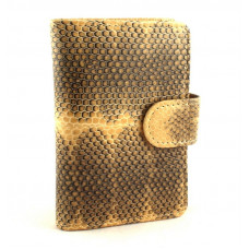 Business card holder made from skin of snakes (N-211Beige)