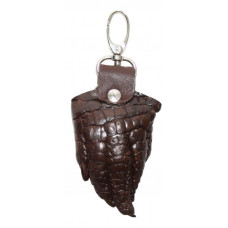 Keychain crocodile leather (KCL 96 Brown)