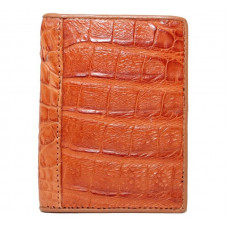 Business card holder made of crocodile skin (SS 01 B Tan)