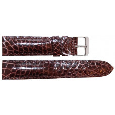 Watchband crocodile leather (ALWS 01 Brown)