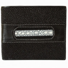 Wallet men's Stingray leather (NST 04 Black)