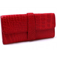 Wallet crocodile leather (ALW09 red)