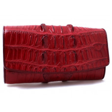 Purse women's crocodile (NPCM 03 BT Burgundy)
