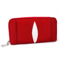 Wallet Stingray leather (NST11 Fire red)
