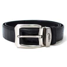 The strap of crocodile leather (No. 108 ALB Black)