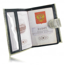 Cover for documents of snake skin AN-099