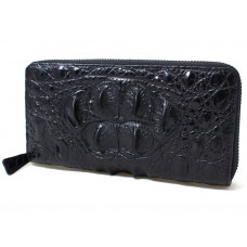 Wallet crocodile leather (NPCM 05 Black)