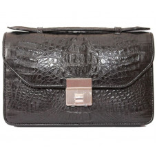 Bag crocodile leather (ALG 9061 Black)